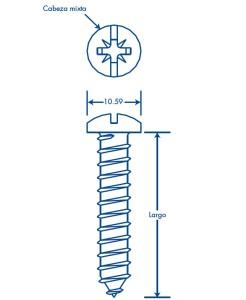 medidas thornillo 12