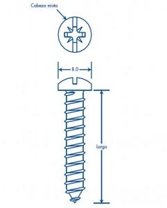 medidas thornillo 8