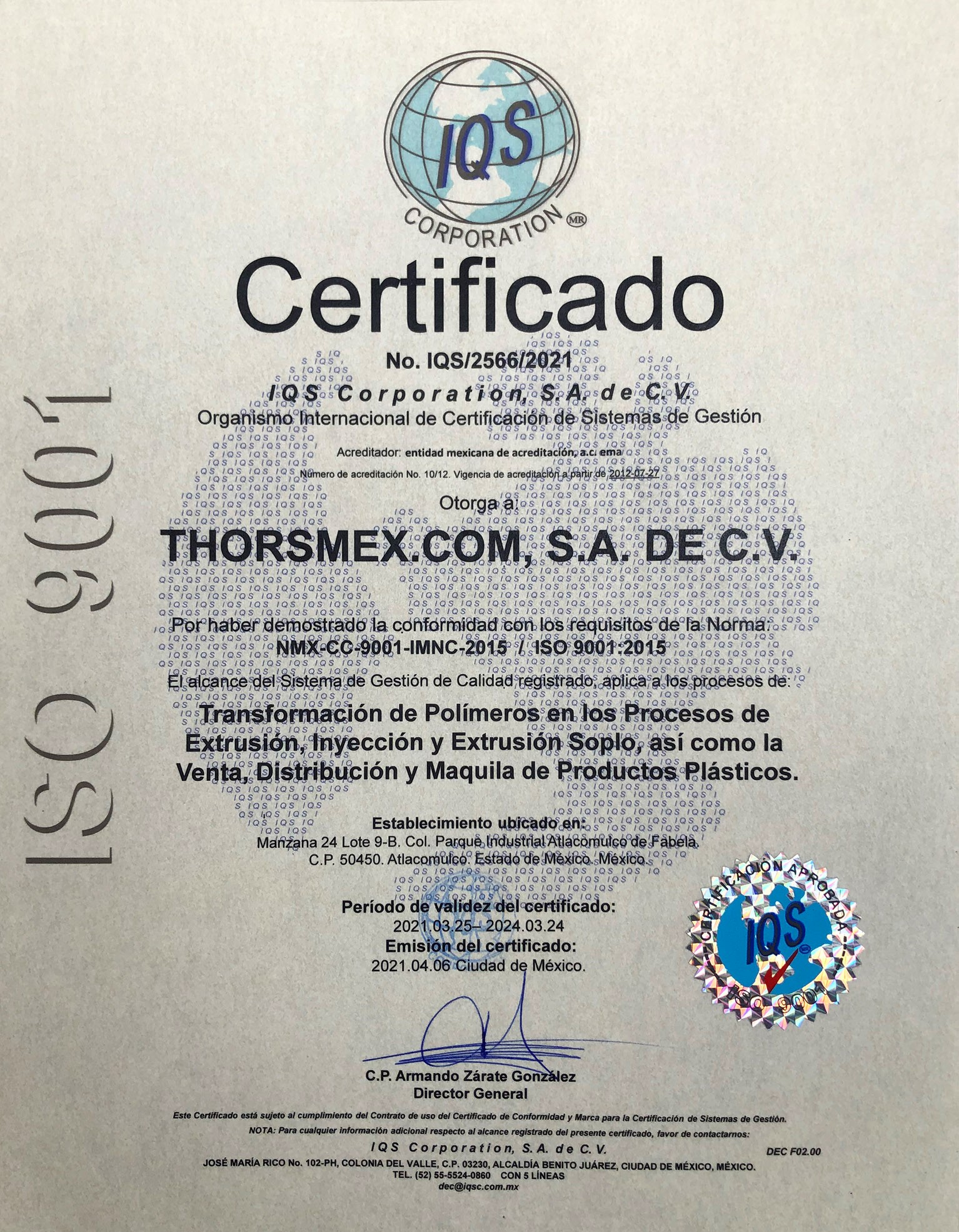 ISO area comercial