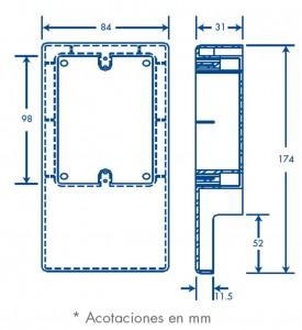 medidas caja PT48