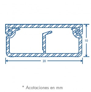 medidas canal 1020 con division