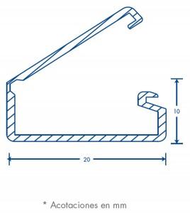medidas canal 1020 tipo bisagra