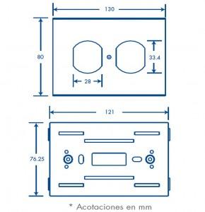 medidas contacto duplex inka