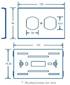 medidas contacto duplex tek 100