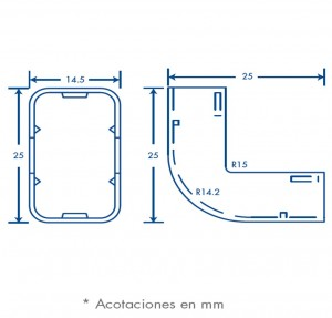 medidas esquinero exterior tmk 0812