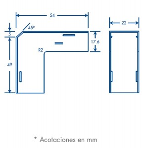 medidas esquinero exterior tmk 1720