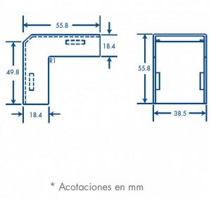 medidas esquinero exterior tmk 1735