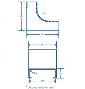 medidas esquinero interior pt48