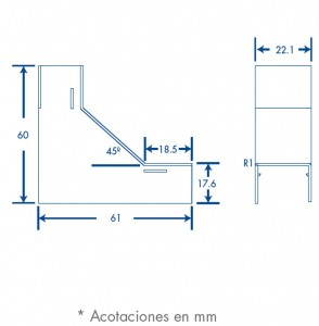 medidas esquinero interior tmk 1720