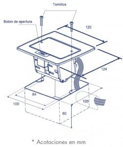 medidas mini caja de piso datos rec