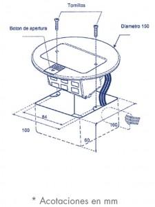 medidas mini caja de piso redonda datos