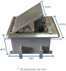medidas mini caja resistente al agua