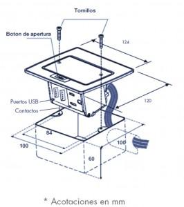 medidas mini caja usb