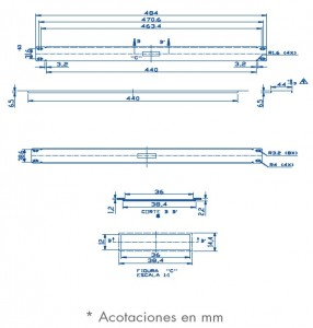medidas panel ciego 1U