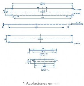 medidas panel ciego 2U