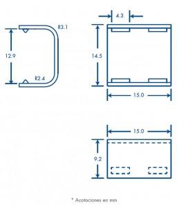 medidas pieza union tmk 0812