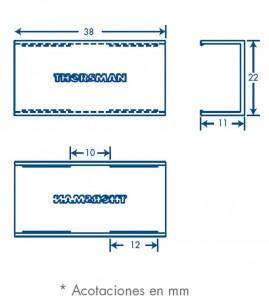 medidas pieza union tmk 1020