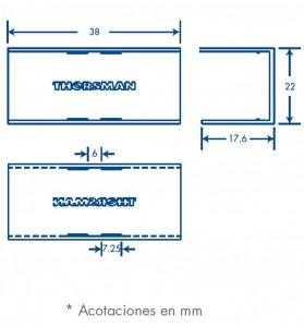 medidas pieza union tmk 1720
