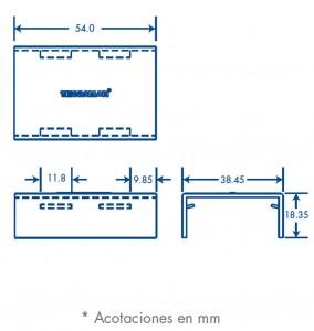 medidas pieza union tmk 1735