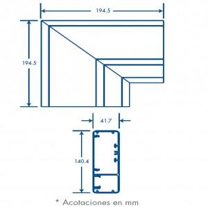 medidas seccion L inka 140