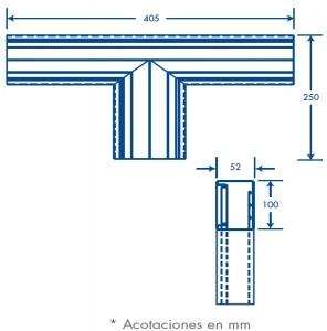medidas seccion T tek 100