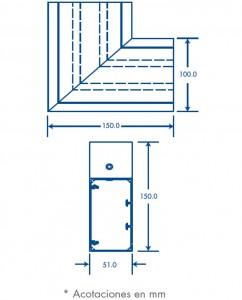 medidas seccion l canal inka 151