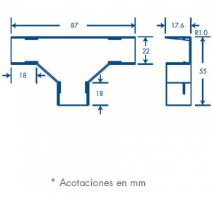 medidas seccion t tmk 1720