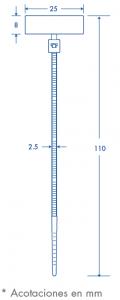 medida tipo bandera