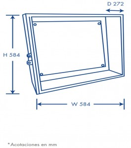 gabinete dimensiones