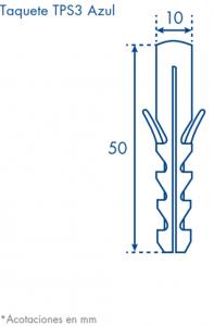 dimensiones taquete TPS azul
