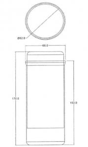 dimensiones bote de taquetes para concreto