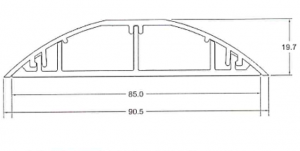 dimensiones canaleta de piso de aluminio