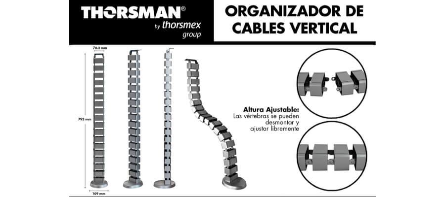 organizador vertical cables thorsman