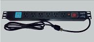 """BARRA PDU 6 CONTACTOS + 2 USB P-RACK 19"""" H"""